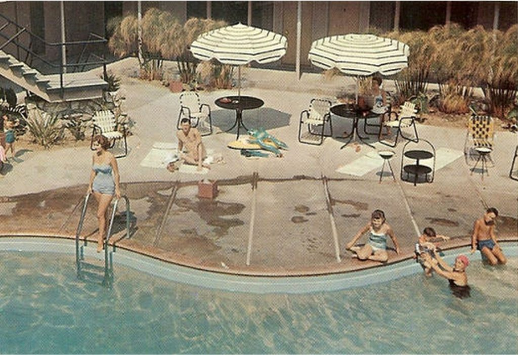 Tropicana pool before the black tiles.